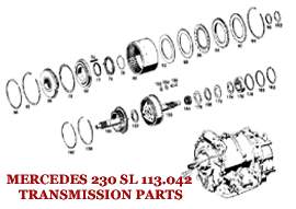 MERCEDES 230 SL 113.042 TRANSMISSION PARTS